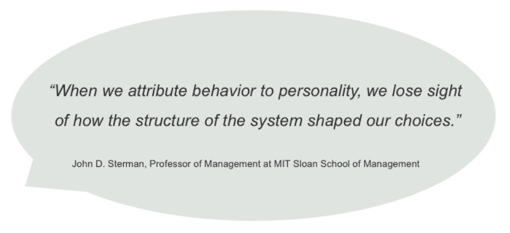 John D Sterman, MIT, Influencing structures and beliefs