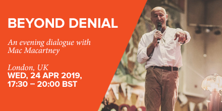 Beyond Denial: An evening dialogue with Mac Macartney